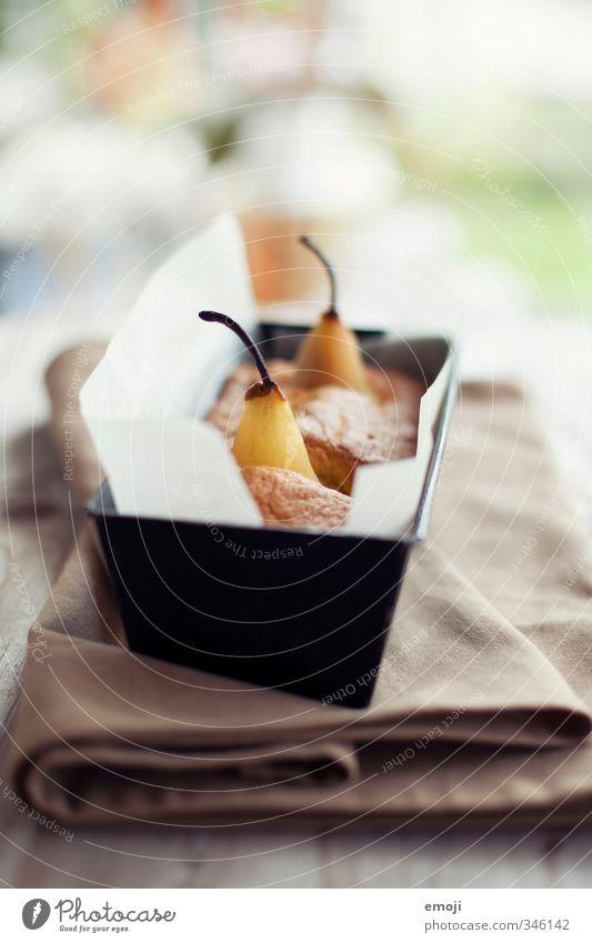 Kuchen Frucht Ernährung Foodfotografie süß Süßwaren lecker Dessert Birne Slowfood Backform
