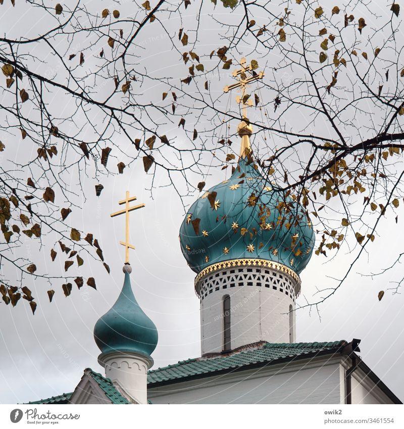 St. Prokop Kirche Kirchtürme Zwiebeltürme Religion & Glaube Gotteshaus russisch-orthodox Orthodoxie Sehenswürdigkeit Bauwerk Architektur Menschenleer