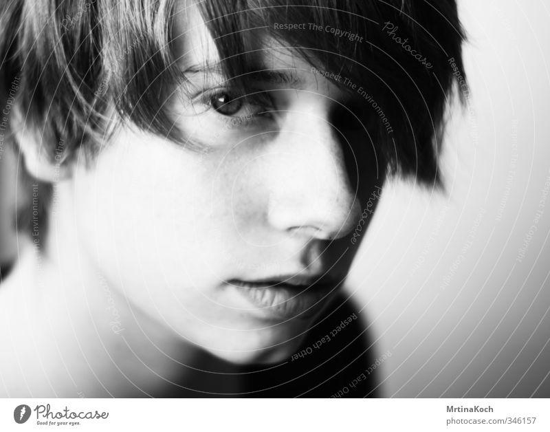wait. Mensch feminin androgyn Junge Frau Jugendliche Haut Kopf Haare & Frisuren Gesicht 1 13-18 Jahre Kind 18-30 Jahre Erwachsene Zufriedenheit Vorfreude
