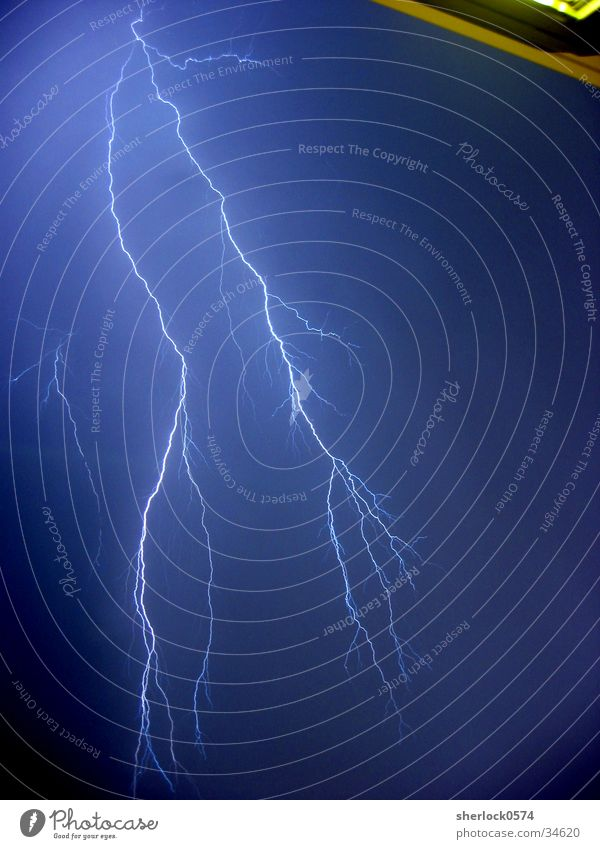 Der Blitz Blitze Gewitter Unwetter Donnern