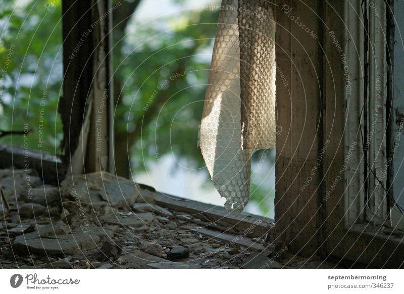 Zerbrochen alt grün Fenster braun Verfall Ruine Zerstörung