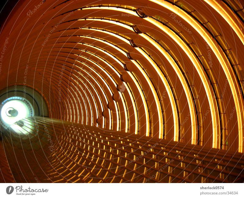 nach oben Licht Etage Tunnel Asien China Architektur Aussicht Beleuchtung