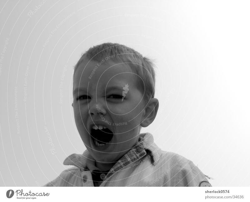 Uaaargh Kind Mann schreien Müdigkeit