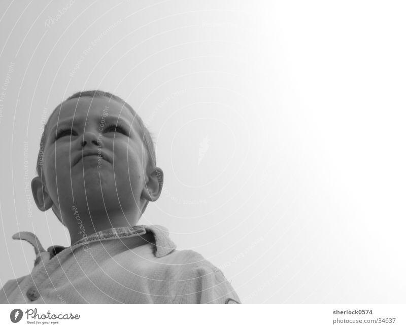 Nachdenklich Kind Denken ruhig Mann Nachdenken