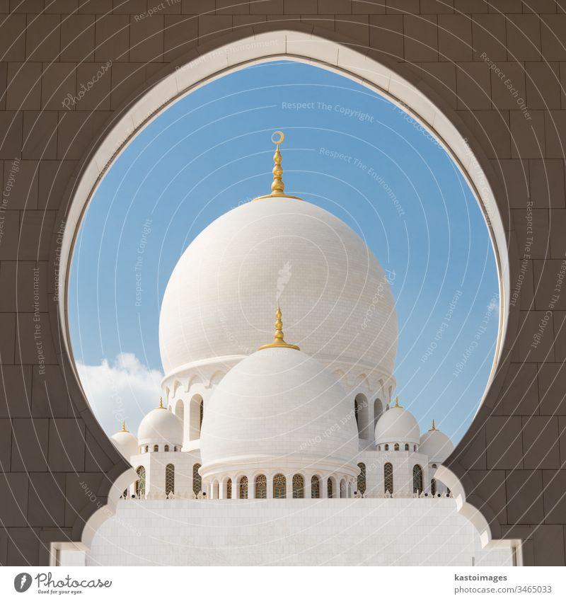 Sheikh Zayed Grand Mosque, Abu Dhabi, Vereinigte Arabische Emirate. Moschee scheich zayed moschee uae Islam Murmel Naher Osten Fenster Architektur