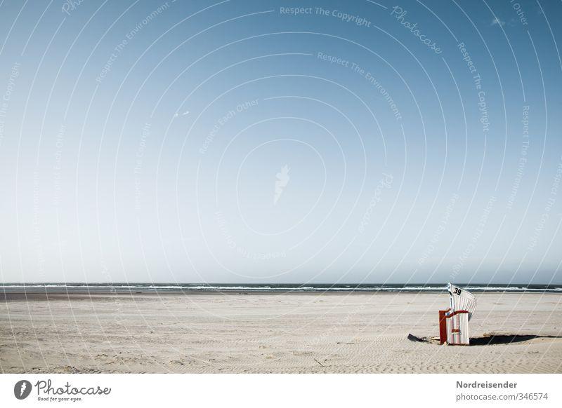 Keine Termine.... Himmel Ferien & Urlaub & Reisen Wasser Sommer Meer Erholung ruhig Strand Ferne Sand Horizont Lifestyle Schönes Wetter einzeln Sonnenbad