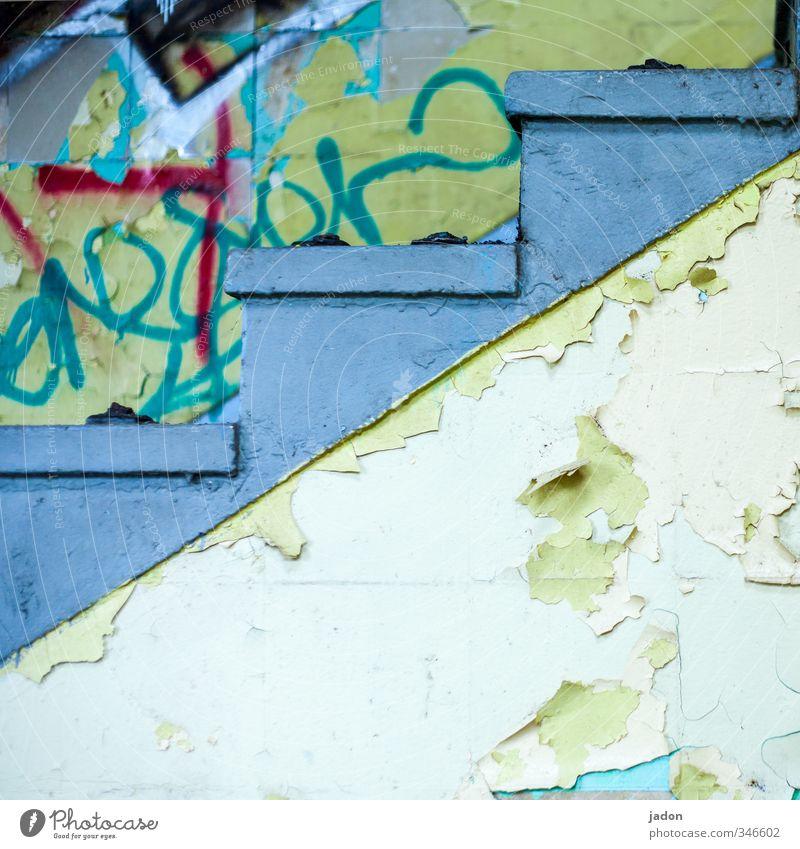kunst der treppe. Haus Graffiti Wand Mauer Architektur Gebäude Innenarchitektur Stil Stein Linie Kunst Treppe verrückt Vergänglichkeit Kultur Jugendkultur
