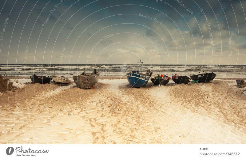 Komme was wolle Zufriedenheit ruhig Ferien & Urlaub & Reisen Ausflug Ferne Freiheit Strand Meer Winter Schnee Ruhestand Natur Landschaft Sand Himmel Küste