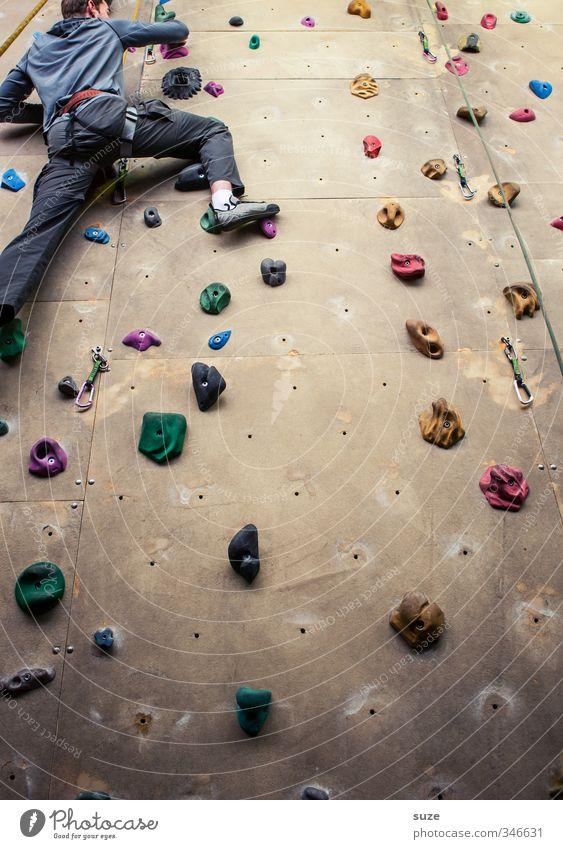 Klettermaxe Lifestyle Freude Freizeit & Hobby Sport Klettern Bergsteigen Seil Mensch maskulin Arme Beine 1 18-30 Jahre Jugendliche Erwachsene Mauer Wand