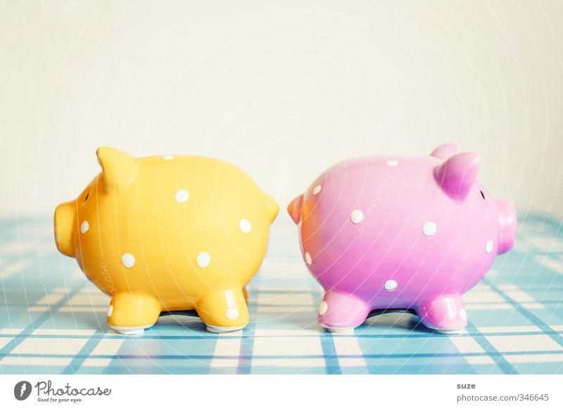 Den Anblick erspar ich mir blau gelb lustig Glück klein rosa Armut Lifestyle Design paarweise Dekoration & Verzierung niedlich kaufen Geld Kunststoff Kitsch