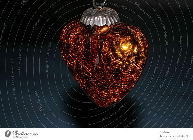 Without a beat Schmuck Dekoration & Verzierung verschönern niedlich Bronze glänzend Herz Gefolgsleute Weihnachten & Advent gold blau heart decoration