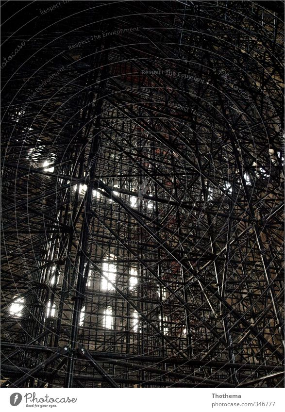 Istanbul - Hagia Sofia - 2009 Ferne Fenster Architektur Religion & Glaube Europa Kirche Netzwerk Bauwerk Stress bizarr Sehenswürdigkeit eckig Baugerüst Türkei gigantisch Gerüst