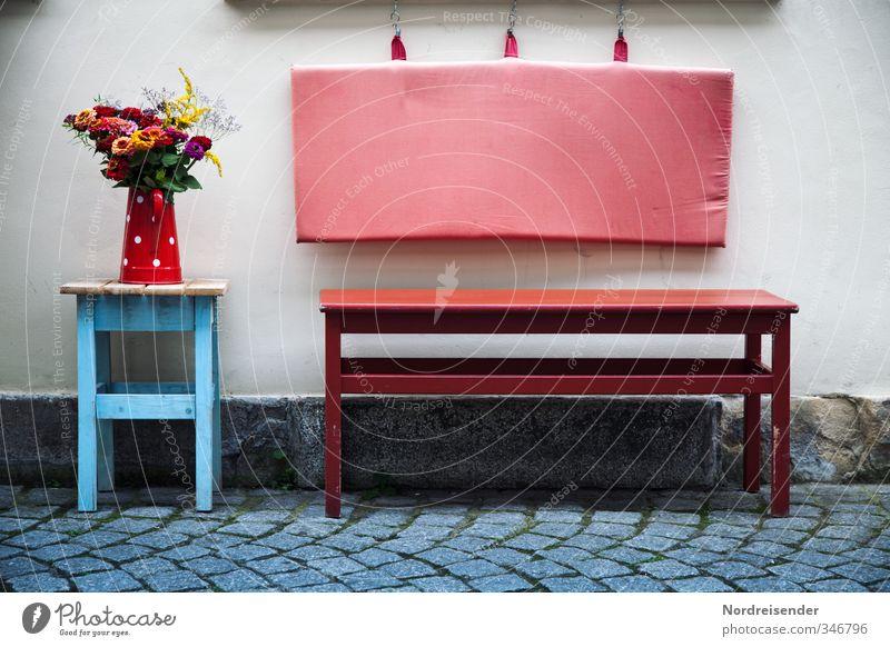 Gut gemeint.... Stadt Blume Haus Wand Leben Wege & Pfade Mauer Gebäude Fassade Häusliches Leben Lifestyle frisch Fröhlichkeit Dekoration & Verzierung