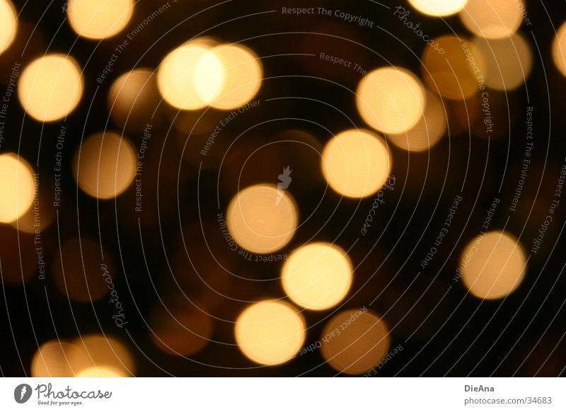 Luminous spots Kreis Oval gelb braun schwarz glänzend Physik Unschärfe Muster Dekoration & Verzierung Stil Langzeitbelichtung Punkt Wärme circles pattern