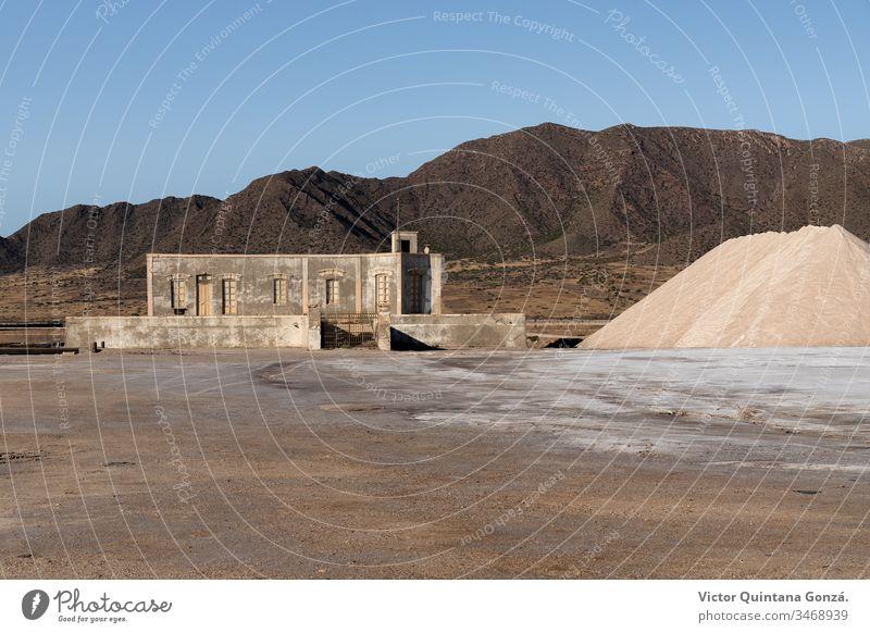 Verlassene Fabrik Almería Lehmziegel Archäologie Architektur trocken Ast kooperativ wüst Staubwischen Europa fest Haus Industrie Landschaft Mühle Mine Schlamm