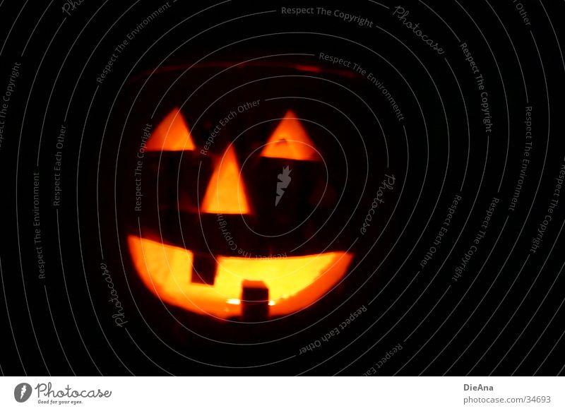 happy hokkaido Lampe Halloween Handwerk Herbst gruselig orange Angst Oktober Schrecken Zahnlücke Kürbis Geister u. Gespenster Gebiss Farbfoto Außenaufnahme