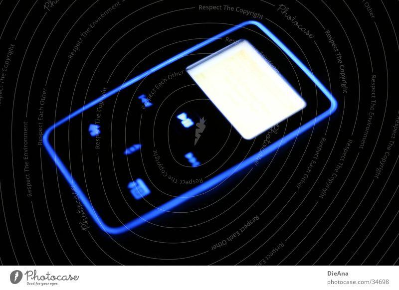 Creative Zen Micro MP3-Player Licht Stil Langzeitbelichtung Elektrisches Gerät Technik & Technologie creative zen micro Musik angeschalten Lampe blau pattern