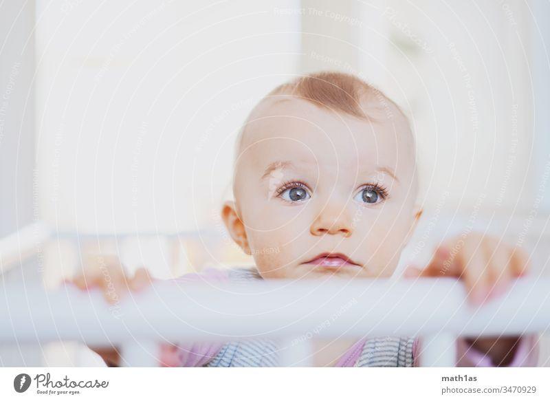 Baby-Portrait Porträt Unschuld nachdenklich gesund dick Gesicht augen