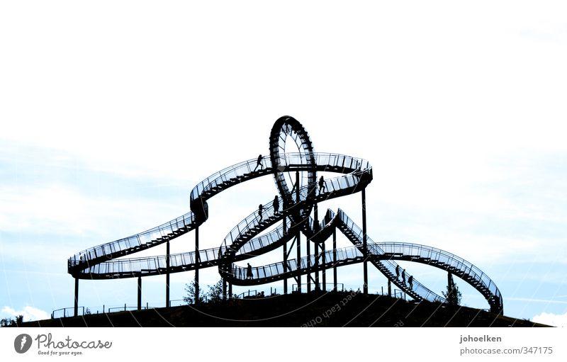 Gefühlswelten Design Ausflug Abenteuer Mensch 1 3 Menschengruppe Skulptur Duisburg Ruhrgebiet Brücke Achterbahn Sehenswürdigkeit Stahl Knoten Bewegung gehen