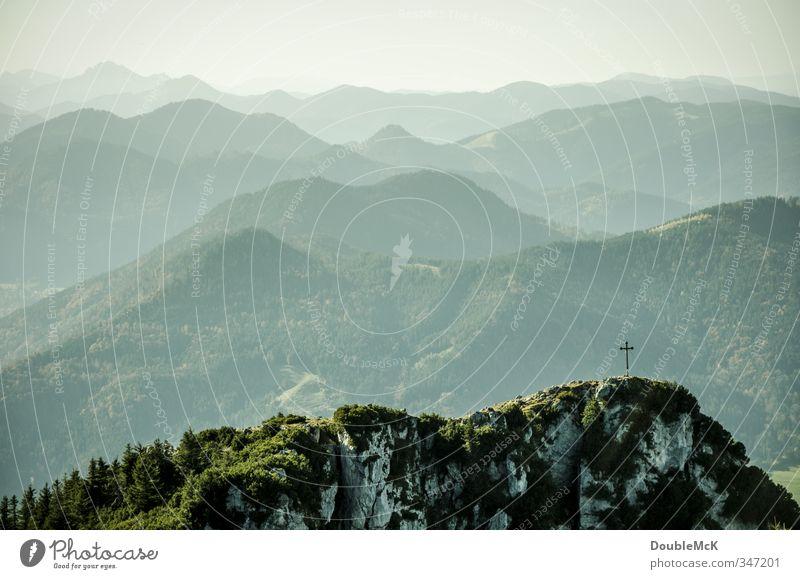 Der Breitenstein ruft! Ausflug Ferne Freiheit Berge u. Gebirge wandern Natur Landschaft Luft Himmel Schönes Wetter Alpen Gipfel grün Lebensfreude ruhig
