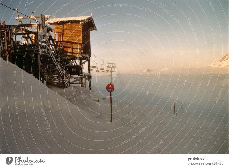 Mystic Piste weiß Ferien & Urlaub & Reisen Winter kalt Schnee Berge u. Gebirge groß Romantik Klarheit Wintersport Skipiste alpin