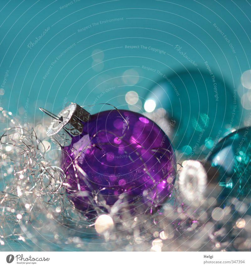 festliches Glitzern... blau schön Weihnachten & Advent außergewöhnlich liegen Metall Stimmung glänzend Design Glas Dekoration & Verzierung ästhetisch