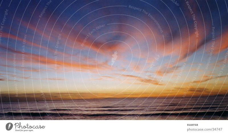 Wo? Wolken Sonnenuntergang Stimmung Meer Ferien & Urlaub & Reisen Italien Neapel stehen Leben