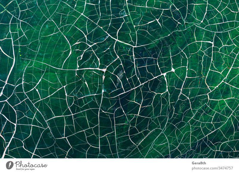 rissige Farbe auf altem Bild Nahaufnahme abstrakt adeptness Kunst Hintergrund Leinwand farbig farbenfroh Riss geknackt Handwerk Beschädigte