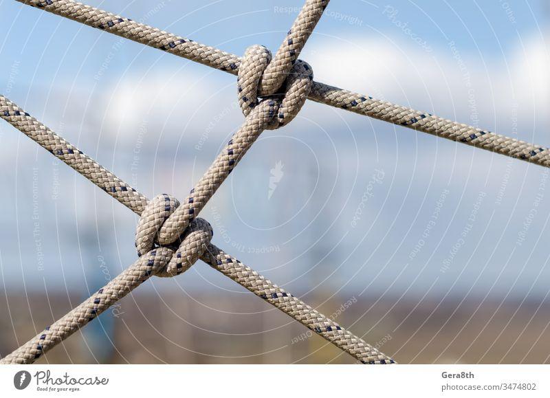 viele Seile und ein großer Knoten aus nächster Nähe abstrakt abstrakter Hintergrund Zugehörigkeit Anhang Zusammenhalt Kabel Nahaufnahme Kombination Mitteilungen