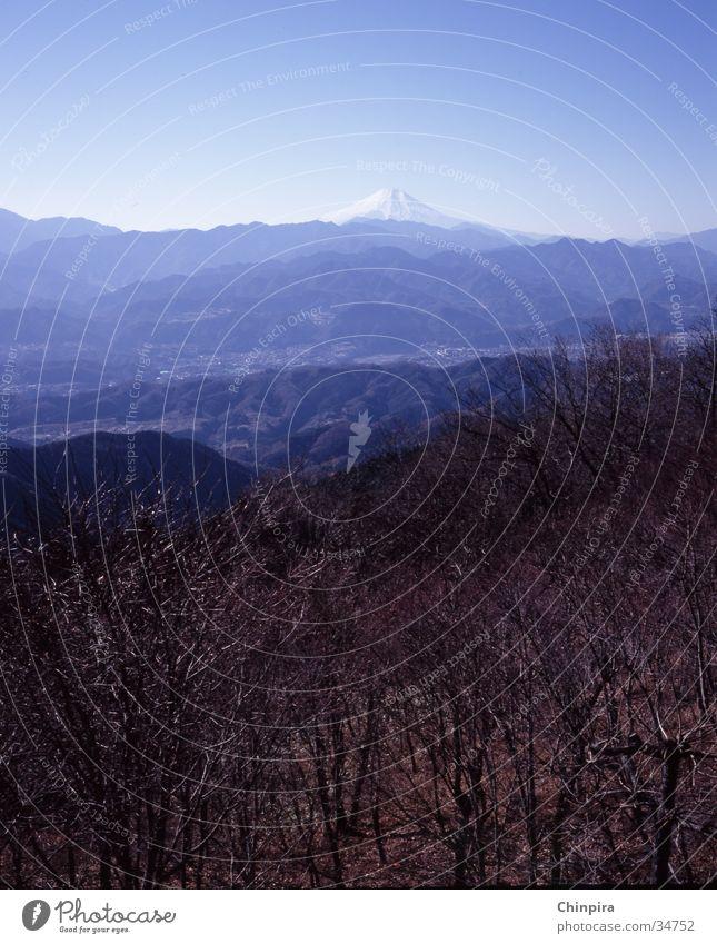 Fuji Himmel Wald Berge u. Gebirge Japan Schneelandschaft Tokyo Fujijama