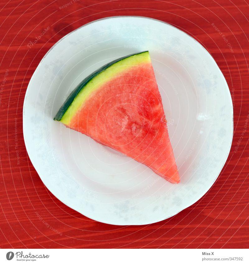 Rot weiß rot grün Gesunde Ernährung Lebensmittel Frucht frisch süß Teile u. Stücke lecker Erfrischung Frühstück Bioprodukte Teller Diät saftig geschnitten