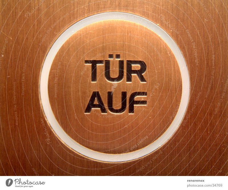 türauf braun Tür Kreis Industrie Taste Bronze