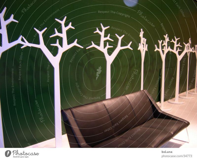 imm05 Baum grün schwarz Häusliches Leben Sofa Leder Buden u. Stände Messestand