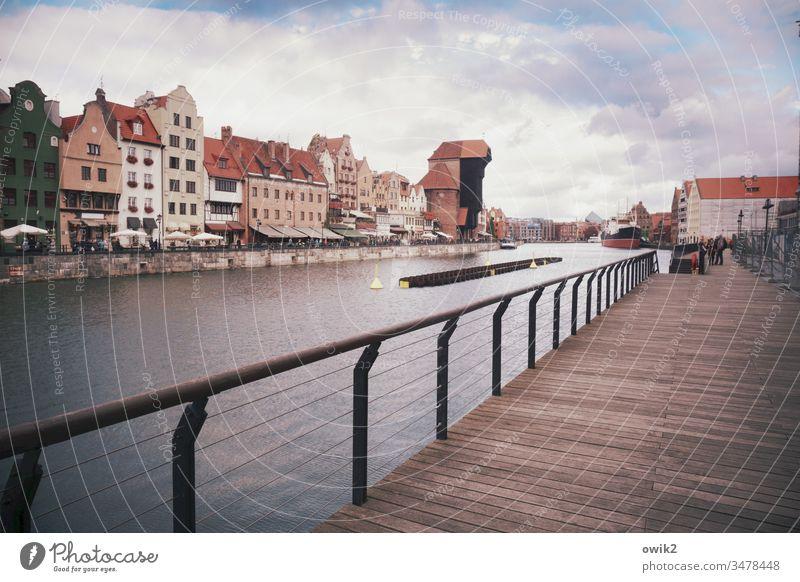 Postkarte Danzig Gdansk Polen Außenaufnahme Farbfoto Textfreiraum oben Menschenleer Textfreiraum unten Textfreiraum links Textfreiraum rechts Himmel Ostsee