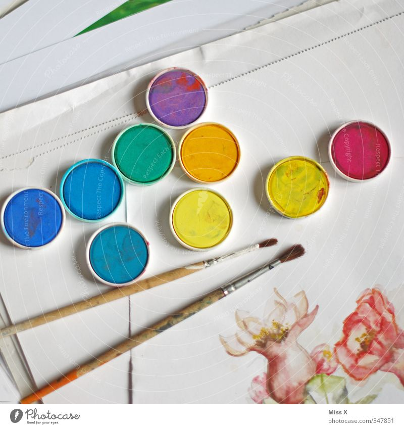 Künstler Farbe Farbstoff Kunst Freizeit & Hobby Kreativität Gemälde zeichnen Pinsel Kunstwerk Aquarell Wasserfarbe Farbkasten