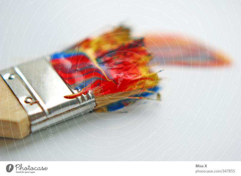 Bunt Farbe Farbstoff Kunst Freizeit & Hobby malen Kreativität streichen Künstler Pinsel Renovieren Maler Borsten heimwerken regenbogenfarben Pinselstrich