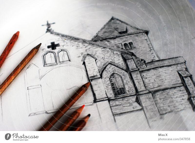 Sankt Ulrich Regensburg alt Architektur Kunst Freizeit & Hobby Kirche malen Kreativität Gemälde Bauwerk Denkmal zeichnen Ruine Schreibstift Dom Zeichnung