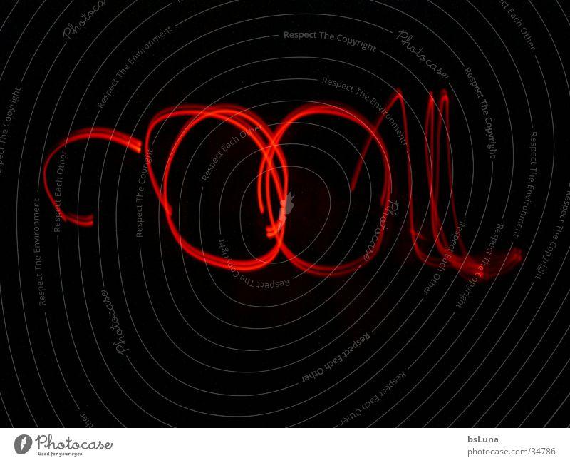 """""""Cool"""" rot schwarz Stil Coolness schreiben Leuchtdiode"""