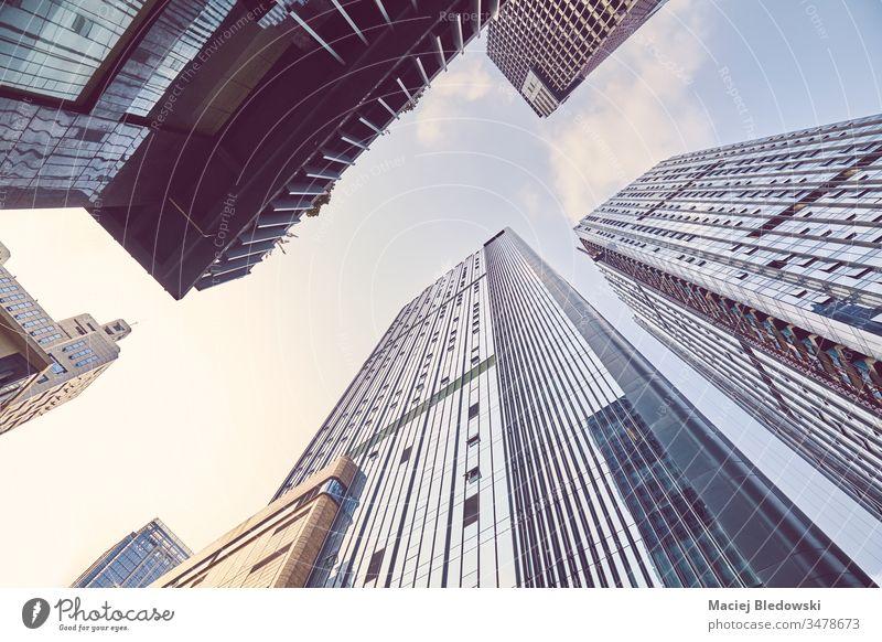 Blick auf die Wolkenkratzer in der Innenstadt von Chengdu, China. Großstadt Business nachschlagen Gebäude modern Büro urban Asien Himmel Architektur