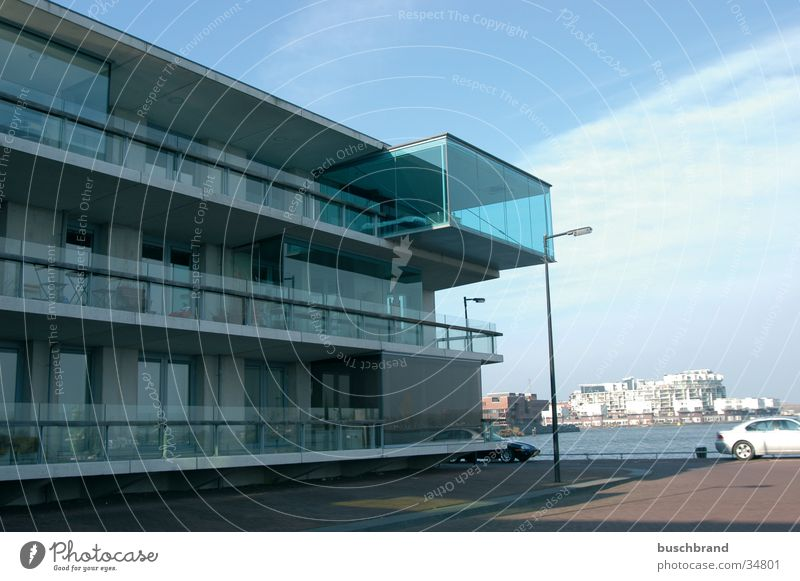 Human Aquarium Design Haus Himmel Nordsee Amsterdam Niederlande Europa Hafenstadt Architektur Balkon Kasten Glas Häusliches Leben außergewöhnlich maritim modern