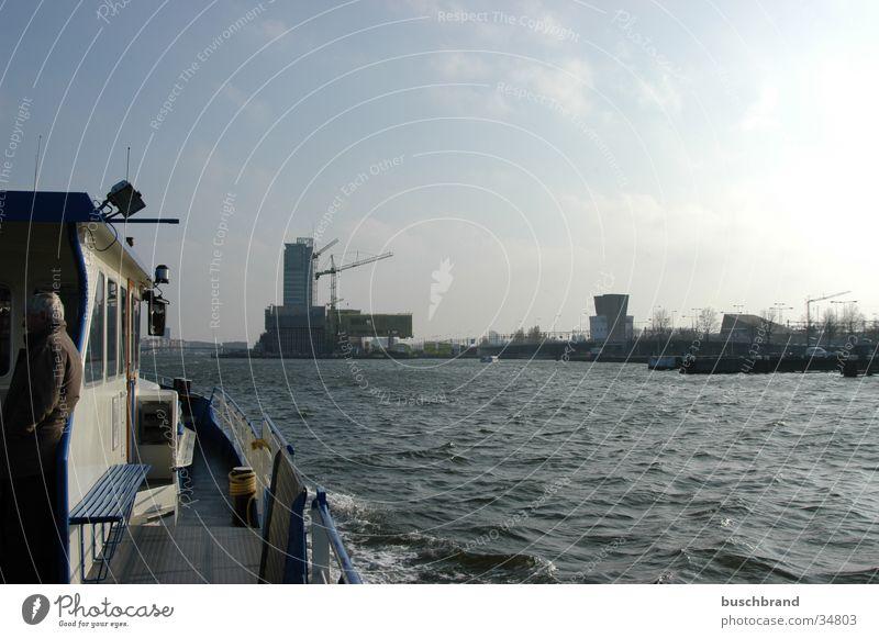 BUSCHBRAND_003 Amsterdam Wasserfahrzeug Himmel Hafen