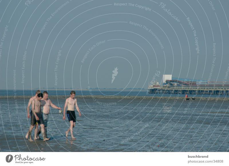 Beach Boys Schwimmen & Baden Ferien & Urlaub & Reisen Tourismus Strand Wassersport maskulin Freundschaft Jugendliche 4 Mensch Menschengruppe 8-13 Jahre Kind