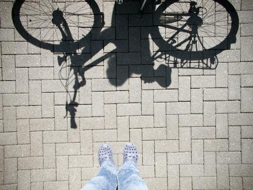 pantoffelheld Freizeit & Hobby Ferien & Urlaub & Reisen Ausflug Fahrradtour Sommer Sport Fahrradfahren maskulin feminin Fuß 2 Mensch Terrasse Verkehr