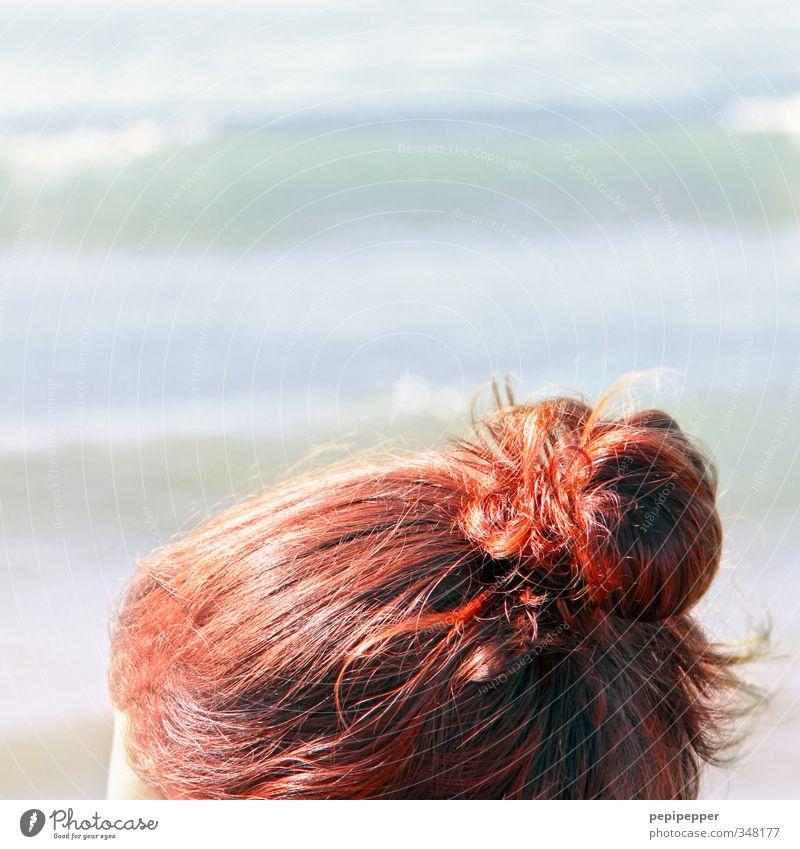 rotschopf schön Haare & Frisuren Kur Spa Schwimmen & Baden Ferien & Urlaub & Reisen Tourismus Sommerurlaub Sonnenbad Strand Meer Junge Frau Jugendliche Wasser