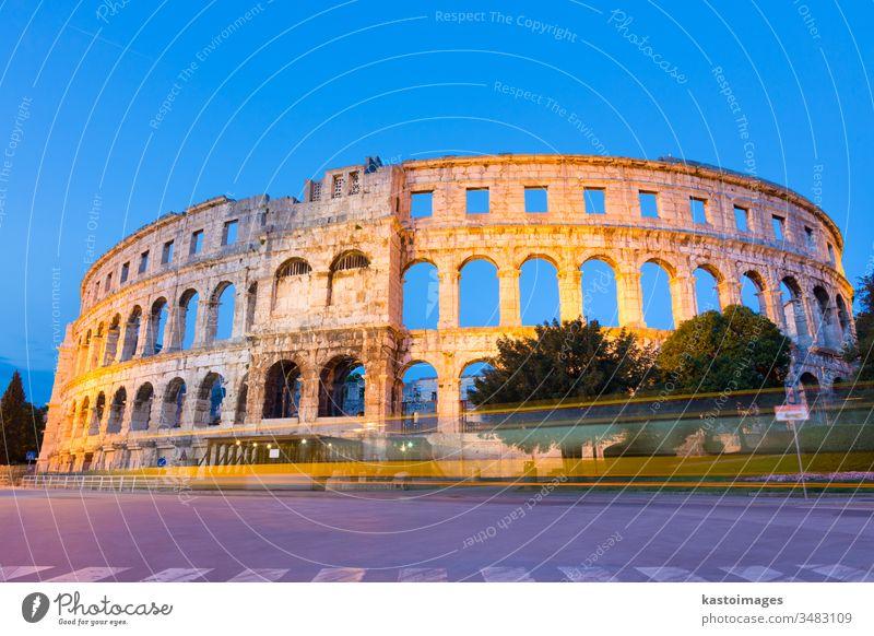 Das römische Amphitheater von Pula, Kroatien. pula Wahrzeichen Arena Pula-Arena antik Bogen archäologisch Archäologie Weltkulturerbe Architektur Gebäude