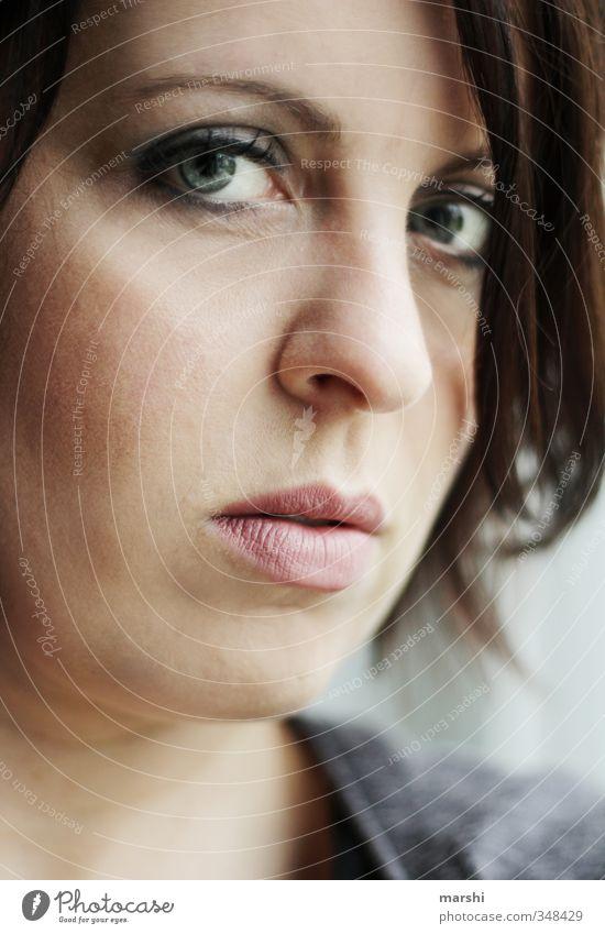 tief in mir elegant Stil Mensch feminin Junge Frau Jugendliche Erwachsene Kopf Gesicht Auge 1 30-45 Jahre Gefühle Stimmung Blick in die Kamera geschminkt