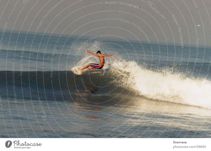 floater2002 Surfen Wellen Bali Indonesien Aktion Extremsport Sport