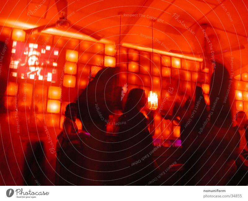FON FON Barcelona I Club Party Nachtleben rot Frau Langzeitbelichtung athmo Tanzen dance red