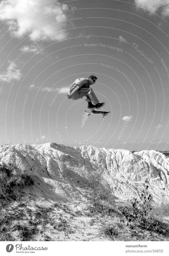 Jump High Berge u. Gebirge Sport springen hoch Skateboarding Air