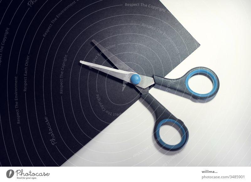 Schnittfläche Schere Papier Tonpapier Scherenschnitt Freizeit & Hobby basteln Objekt der Begierde Fotochallenge Kreativität Basteln Design